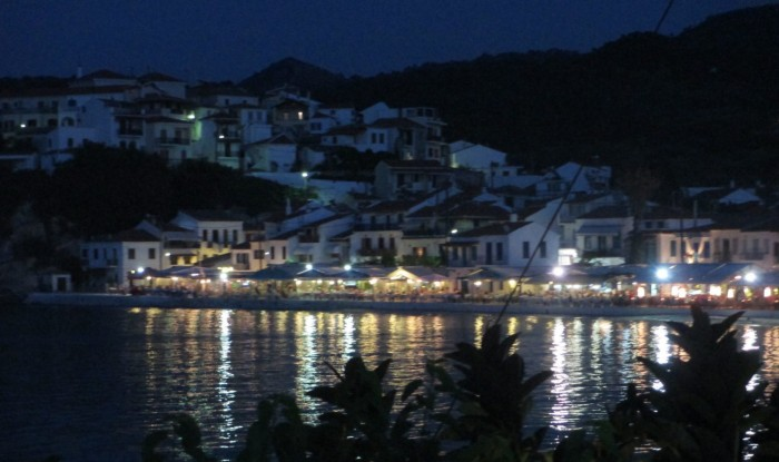A glimpse of Greece at night