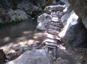 Bridge to Potami waterfalls