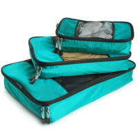 Packing bags are ideal for organizing while you travel.