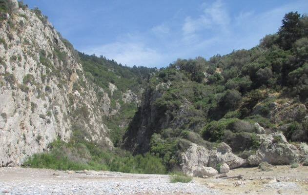 hike to a private beach in samos