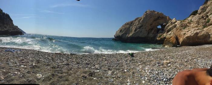 private beach in samos