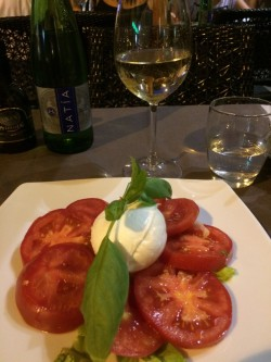 Italian tomatoes with mozzarella