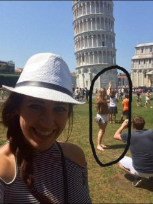People being ridiculous in Pisa
