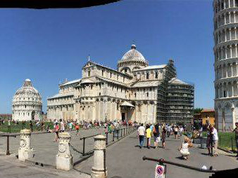 The duomo and leaning tower of Pisa