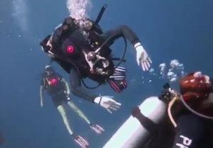 Doing flips under water