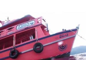 The Phoenix Divers big pink boat!
