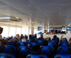 Lompraya boat inside