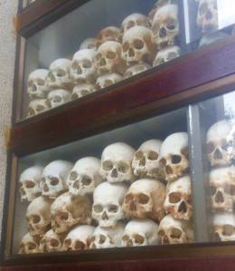 The killing fields in Cambodia