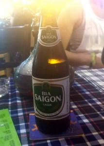 Saigon beer in Saigon